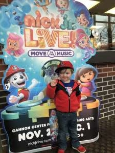 Melissa attended Nick Jr. Live! Move to the Music - Presented by Vstar Entertainment on Nov 30th 2019 via VetTix