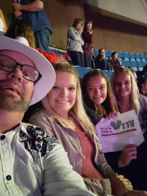 Cale attended Carrie Underwood: the Cry Pretty Tour 360 on Oct 24th 2019 via VetTix