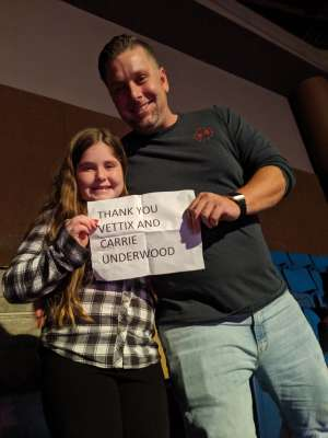 Michael Bridges attended Carrie Underwood: the Cry Pretty Tour 360 on Oct 24th 2019 via VetTix