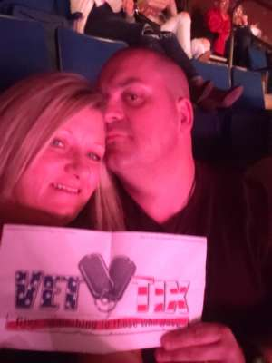 Frank attended Carrie Underwood: the Cry Pretty Tour 360 on Oct 24th 2019 via VetTix