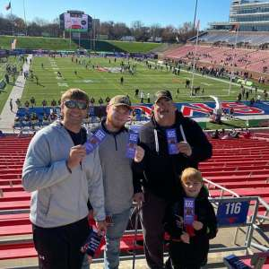 Monte attended 2019 First Responder Bowl: Western Kentucky Hilltoppers vs. Western Michigan Broncos on Dec 30th 2019 via VetTix