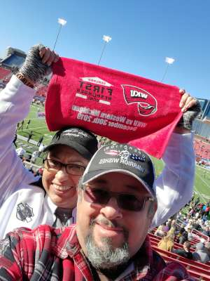 Julio attended 2019 First Responder Bowl: Western Kentucky Hilltoppers vs. Western Michigan Broncos on Dec 30th 2019 via VetTix