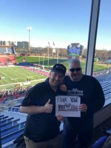 Eugene attended 2019 First Responder Bowl: Western Kentucky Hilltoppers vs. Western Michigan Broncos on Dec 30th 2019 via VetTix