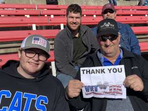James attended 2019 First Responder Bowl: Western Kentucky Hilltoppers vs. Western Michigan Broncos on Dec 30th 2019 via VetTix