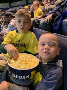 Daphne attended University of Michigan Wolverines vs. Appalachian State - NCAA Basketball on Nov 5th 2019 via VetTix