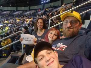 Bryan attended University of Michigan Wolverines vs. Appalachian State - NCAA Basketball on Nov 5th 2019 via VetTix