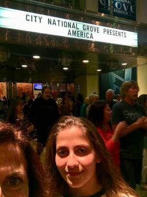Marina attended America - 50th Anniversary Tour on Oct 25th 2019 via VetTix