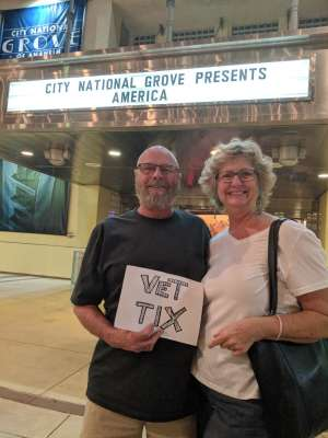 James attended America - 50th Anniversary Tour on Oct 25th 2019 via VetTix