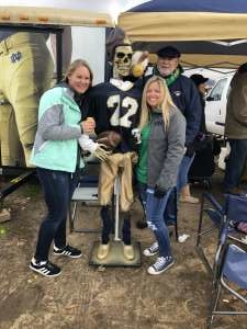 Sara attended Notre Dame Fighting Irish vs. Virginia Tech - NCAA Football on Nov 2nd 2019 via VetTix