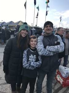 Nicholas attended Notre Dame Fighting Irish vs. Virginia Tech - NCAA Football on Nov 2nd 2019 via VetTix