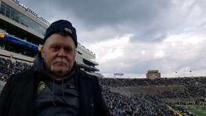 John attended Notre Dame Fighting Irish vs. Virginia Tech - NCAA Football on Nov 2nd 2019 via VetTix