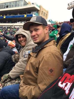 Jeff attended Notre Dame Fighting Irish vs. Virginia Tech - NCAA Football on Nov 2nd 2019 via VetTix