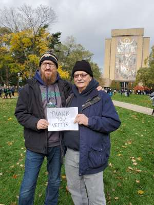 Patrick attended Notre Dame Fighting Irish vs. Virginia Tech - NCAA Football on Nov 2nd 2019 via VetTix