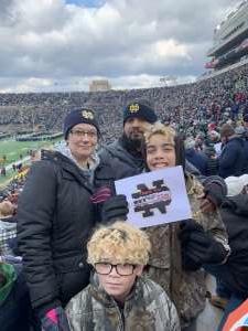 Abreaham attended Notre Dame Fighting Irish vs. Virginia Tech - NCAA Football on Nov 2nd 2019 via VetTix