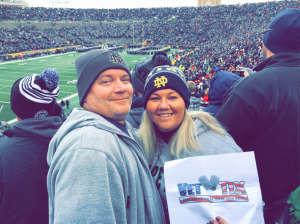 Murphy attended Notre Dame Fighting Irish vs. Virginia Tech - NCAA Football on Nov 2nd 2019 via VetTix