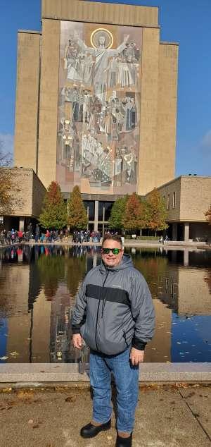 thomas attended Notre Dame Fighting Irish vs. Virginia Tech - NCAA Football on Nov 2nd 2019 via VetTix