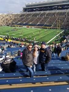 Douglas attended Notre Dame Fighting Irish vs. Virginia Tech - NCAA Football on Nov 2nd 2019 via VetTix