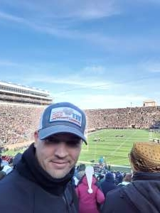Timothy attended University of Notre Dame Fighting Irish vs. Navy - NCAA Football on Nov 16th 2019 via VetTix