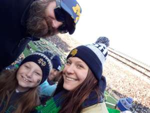 Ray attended University of Notre Dame Fighting Irish vs. Navy - NCAA Football on Nov 16th 2019 via VetTix