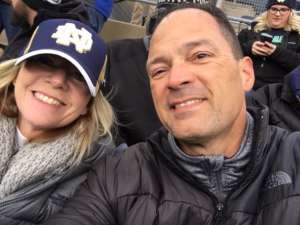 rick attended University of Notre Dame Fighting Irish vs. Navy - NCAA Football on Nov 16th 2019 via VetTix