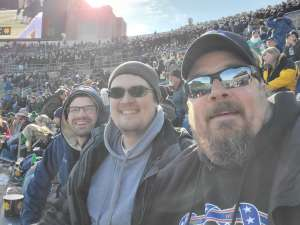 David attended University of Notre Dame Fighting Irish vs. Navy - NCAA Football on Nov 16th 2019 via VetTix