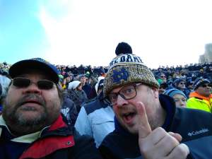 Roger attended University of Notre Dame Fighting Irish vs. Navy - NCAA Football on Nov 16th 2019 via VetTix