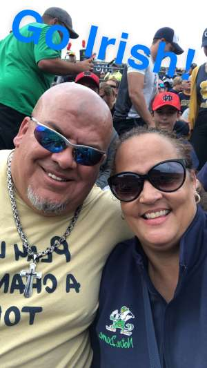 Kimberly attended University of Notre Dame Fighting Irish vs. Navy - NCAA Football on Nov 16th 2019 via VetTix