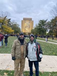 Greg attended University of Notre Dame Fighting Irish vs. Navy - NCAA Football on Nov 16th 2019 via VetTix