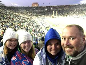Eric attended University of Notre Dame Fighting Irish vs. Navy - NCAA Football on Nov 16th 2019 via VetTix