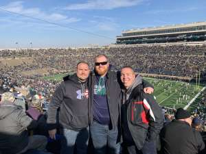 Joel attended University of Notre Dame Fighting Irish vs. Navy - NCAA Football on Nov 16th 2019 via VetTix