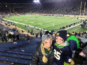 Theodore attended University of Notre Dame Fighting Irish vs. Navy - NCAA Football on Nov 16th 2019 via VetTix