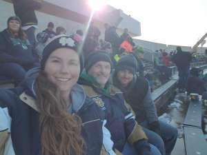 Joyce attended University of Notre Dame Fighting Irish vs. Navy - NCAA Football on Nov 16th 2019 via VetTix