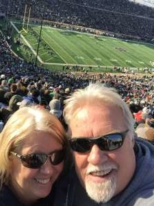 Tim attended University of Notre Dame Fighting Irish vs. Navy - NCAA Football on Nov 16th 2019 via VetTix