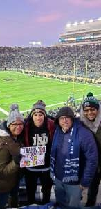 Veronika attended University of Notre Dame Fighting Irish vs. Navy - NCAA Football on Nov 16th 2019 via VetTix