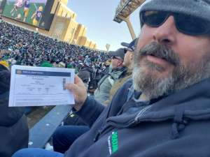 Chris attended University of Notre Dame Fighting Irish vs. Navy - NCAA Football on Nov 16th 2019 via VetTix