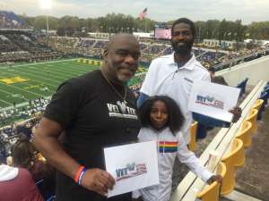 Christopher attended Navy Midshipmen vs. Tulane - NCAA Football on Oct 26th 2019 via VetTix
