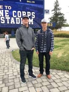 Curtis attended Navy Midshipmen vs. Tulane - NCAA Football on Oct 26th 2019 via VetTix