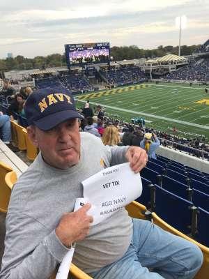 JAMES attended Navy Midshipmen vs. Tulane - NCAA Football on Oct 26th 2019 via VetTix