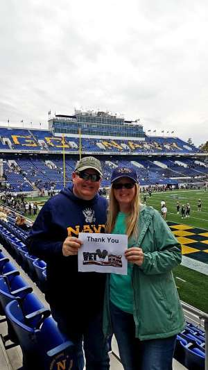 Rob attended Navy Midshipmen vs. Tulane - NCAA Football on Oct 26th 2019 via VetTix