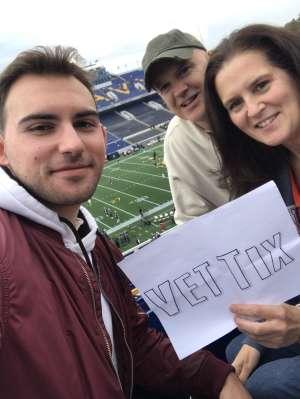 Carl attended Navy Midshipmen vs. Tulane - NCAA Football on Oct 26th 2019 via VetTix