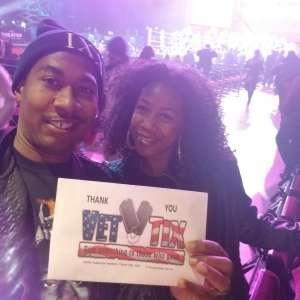Keithan attended Premiere Boxing Champions: Castano vs. Omotoso - Boxing on Nov 2nd 2019 via VetTix