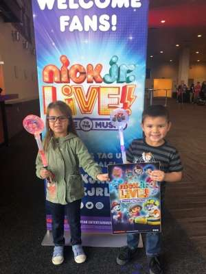 Onanong attended Nick Jr. Live! Move to the Music - Presented by Vstar Entertainment on Nov 24th 2019 via VetTix