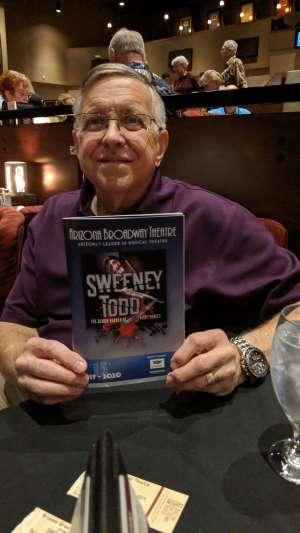 Samuel attended Sweeney Todd - Arizona Broadway Theatre - Matinee 2 PM on Nov 7th 2019 via VetTix
