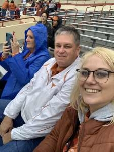 Kassidy attended University of Texas Longhorns vs. Texas Tech Red Raiders - NCAA Football on Nov 29th 2019 via VetTix