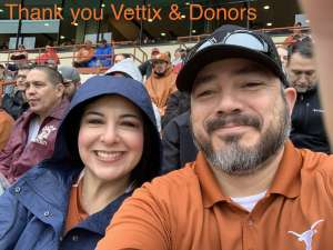 Marty attended University of Texas Longhorns vs. Texas Tech Red Raiders - NCAA Football on Nov 29th 2019 via VetTix