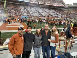 Jacob attended University of Texas Longhorns vs. Texas Tech Red Raiders - NCAA Football on Nov 29th 2019 via VetTix