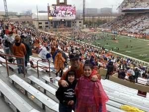 Allen attended University of Texas Longhorns vs. Texas Tech Red Raiders - NCAA Football on Nov 29th 2019 via VetTix