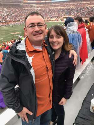 David attended University of Texas Longhorns vs. Texas Tech Red Raiders - NCAA Football on Nov 29th 2019 via VetTix