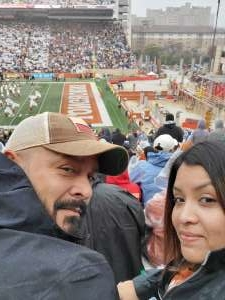 Martin attended University of Texas Longhorns vs. Texas Tech Red Raiders - NCAA Football on Nov 29th 2019 via VetTix