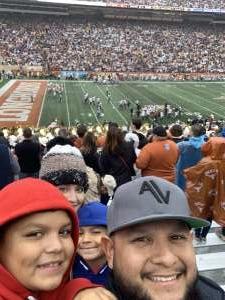 Juan attended University of Texas Longhorns vs. Texas Tech Red Raiders - NCAA Football on Nov 29th 2019 via VetTix